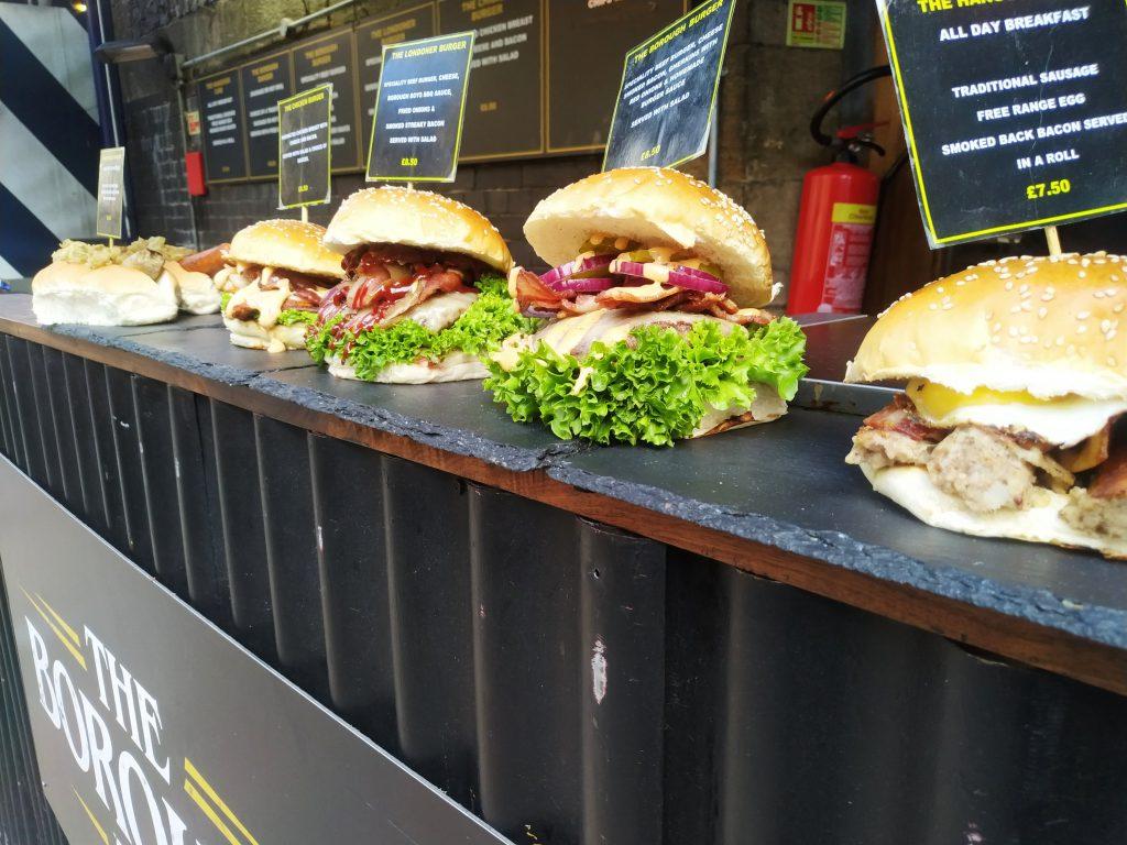 Různé typy burgerů
